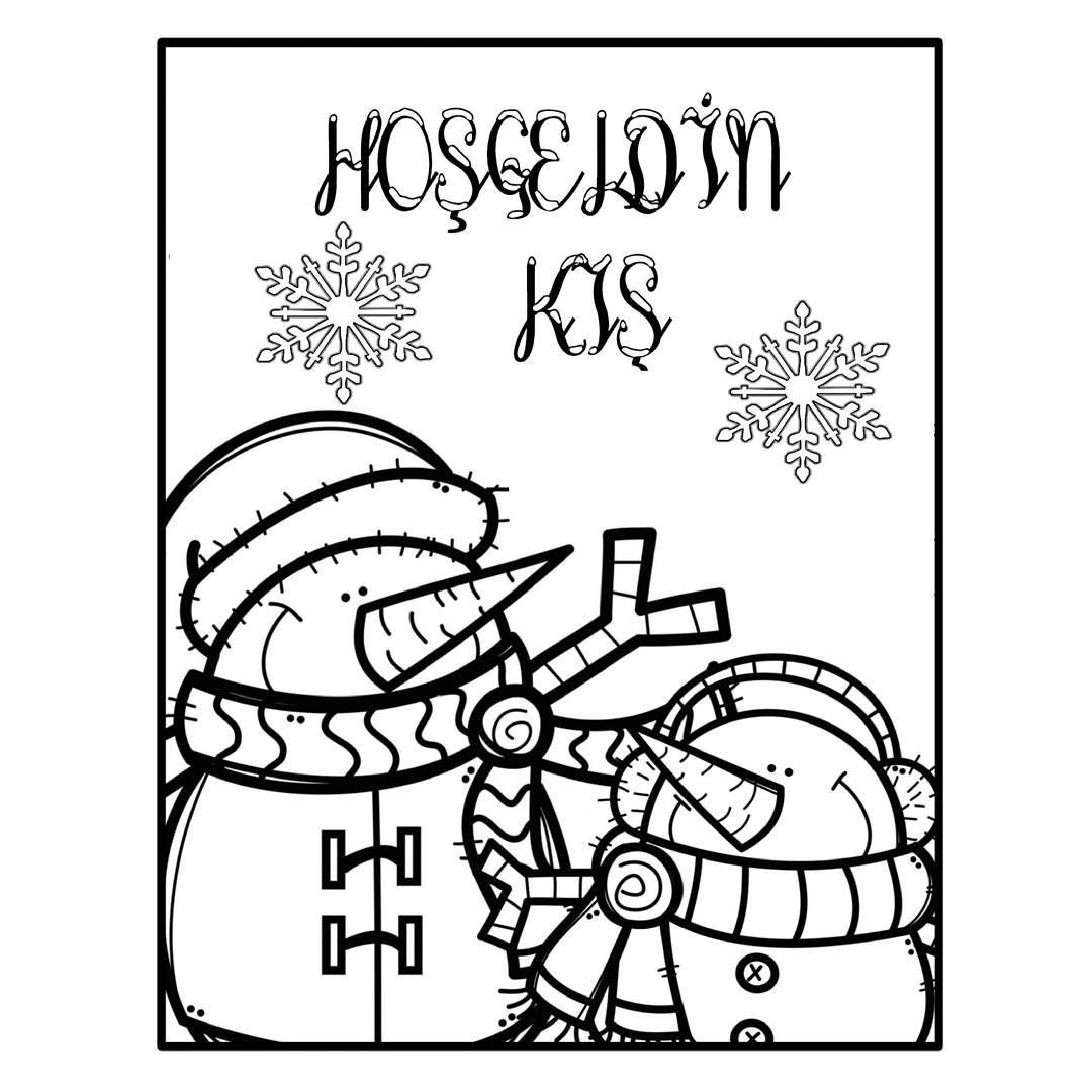 Kis Temali Kis Gelmisti Izmirli Olarak Pek Kar Gormesekte Gorenler Olacaktir Mutlaka Birbirinden Coloring Pages Winter Kindergarten Red Christmas Ornaments