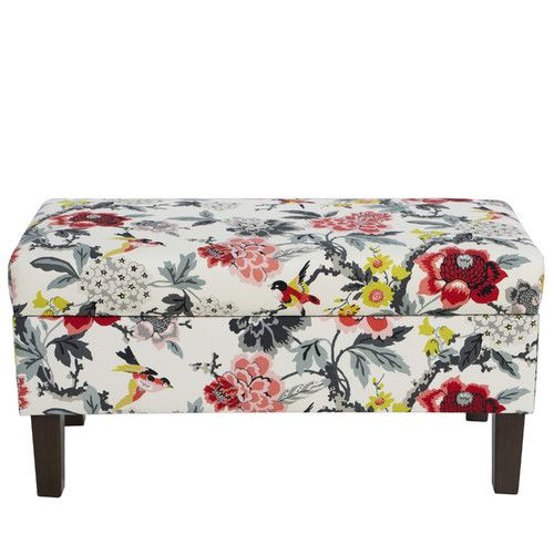 Found it at Wayfair - Cotton Upholstered Storage Bedroom Bench