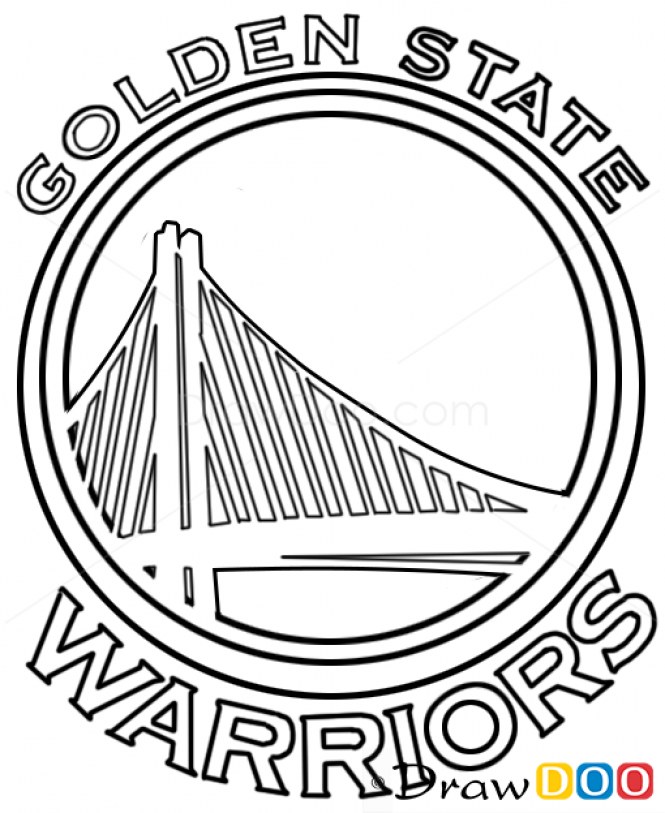 Image result for how to draw golden state warriors logo | Fondant y ...