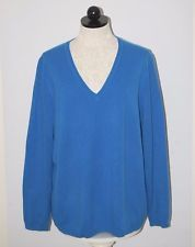 Lord & Taylor 100% Cashmere Royal Blue V-Neck Sweater 2X ...
