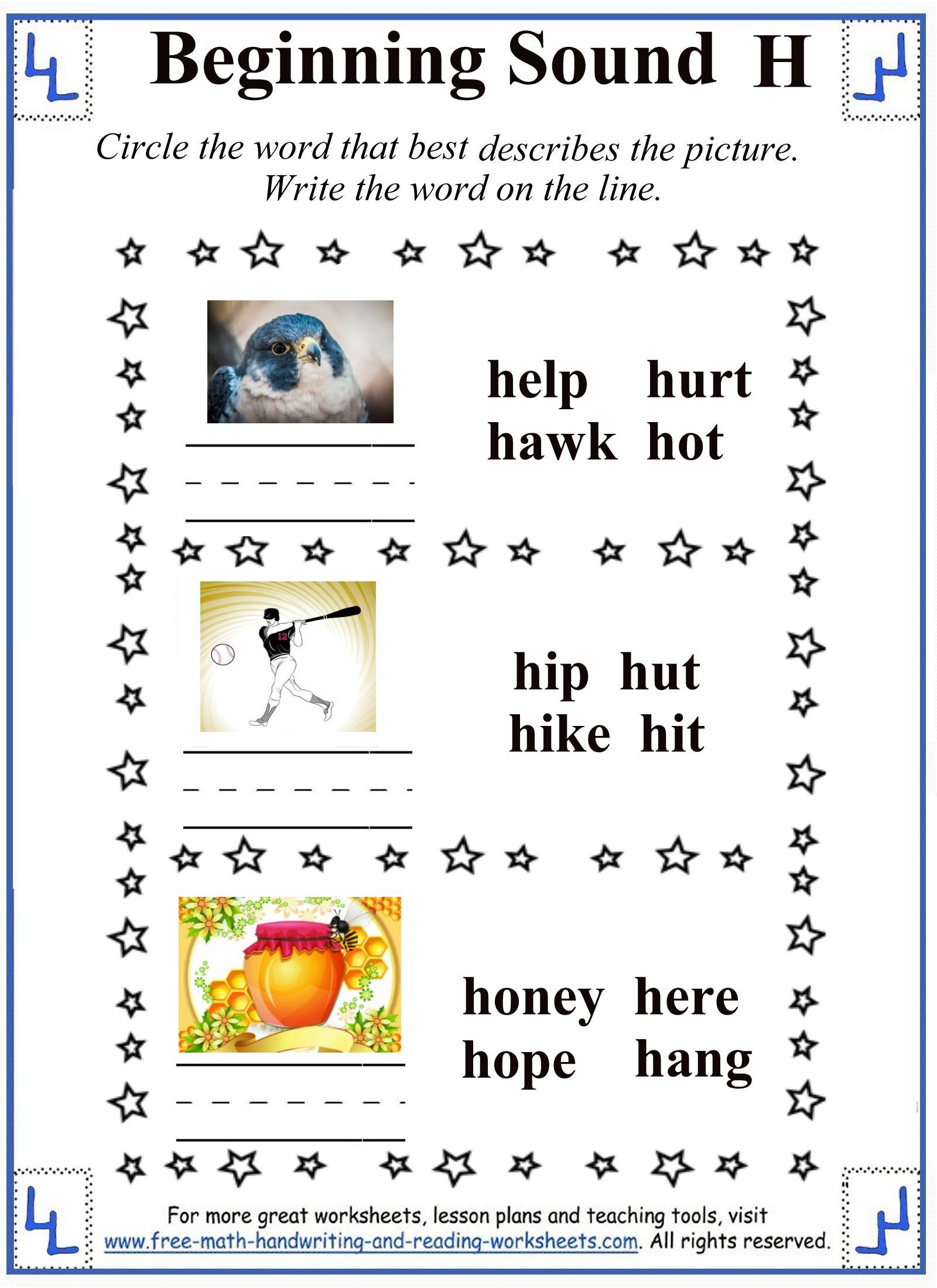 H Letter Worksheet 3