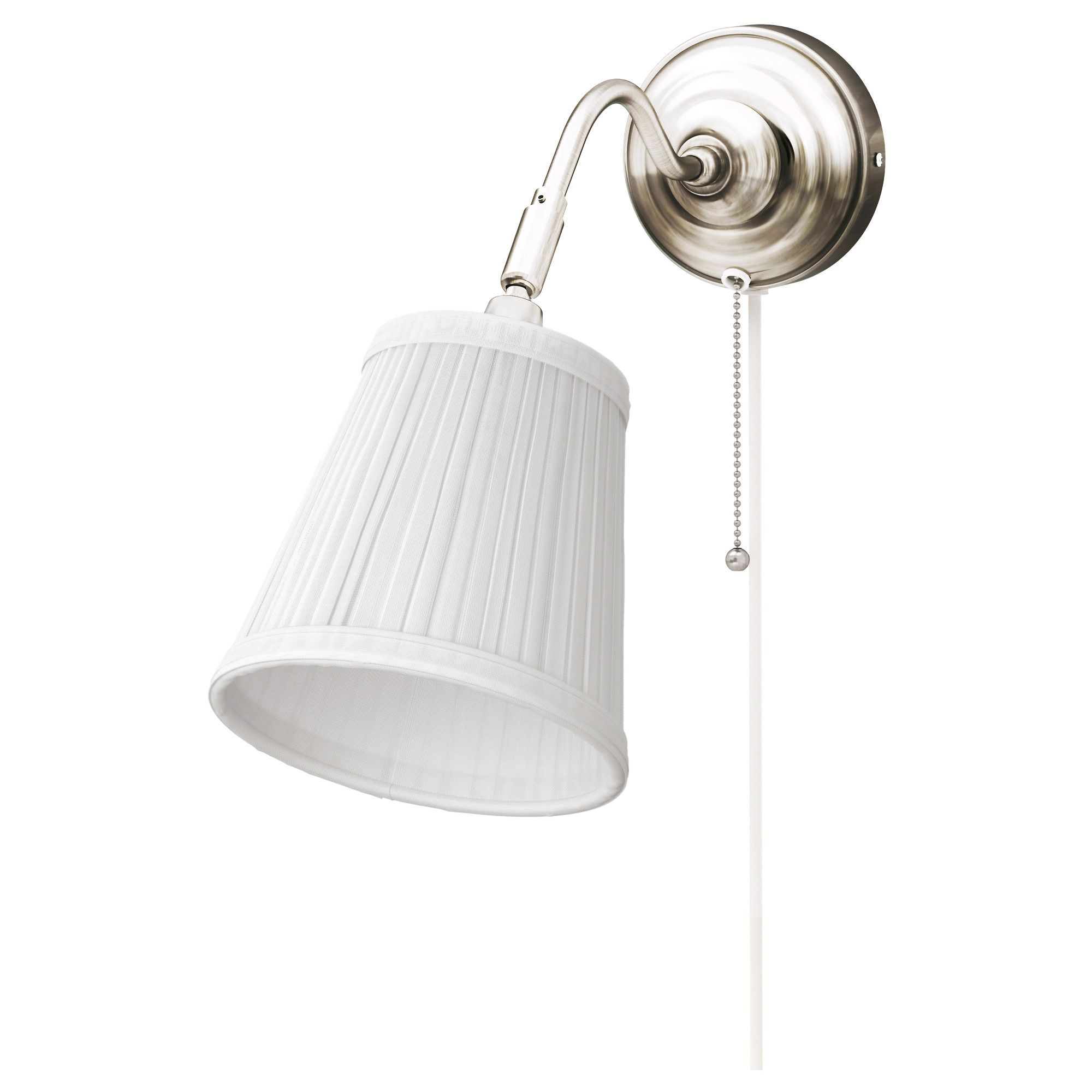 ÅRSTID Wall lamp with LED bulb, nickel plated, white | Decorative ...