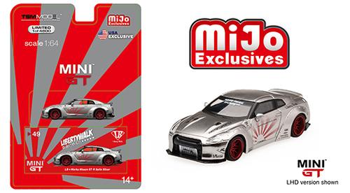 TSM 1:64 MINI GT LB WORKS Nissan GT-R R35 Liberty Walk Model White MGT00064