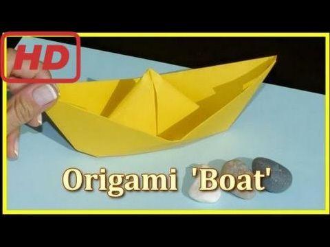 16 Kid Usa Easy Origami Boat Demo Childrens Educational Videos