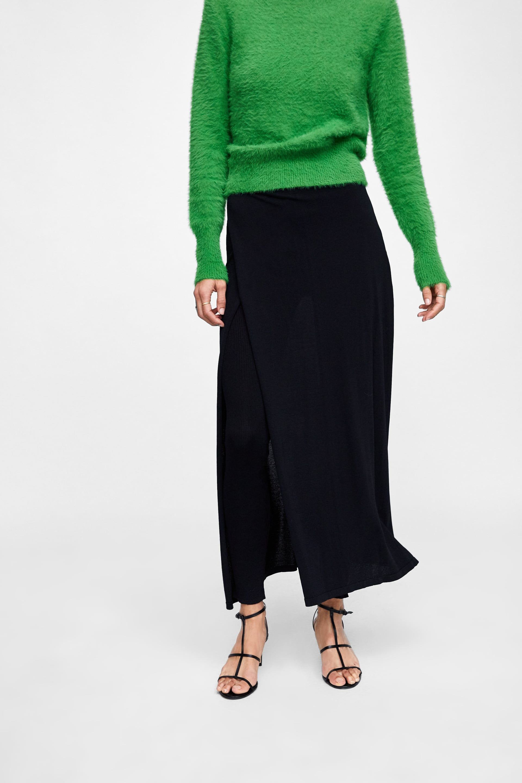 a4027a2fd Falda Negra Niña Zara | Wig Elegance
