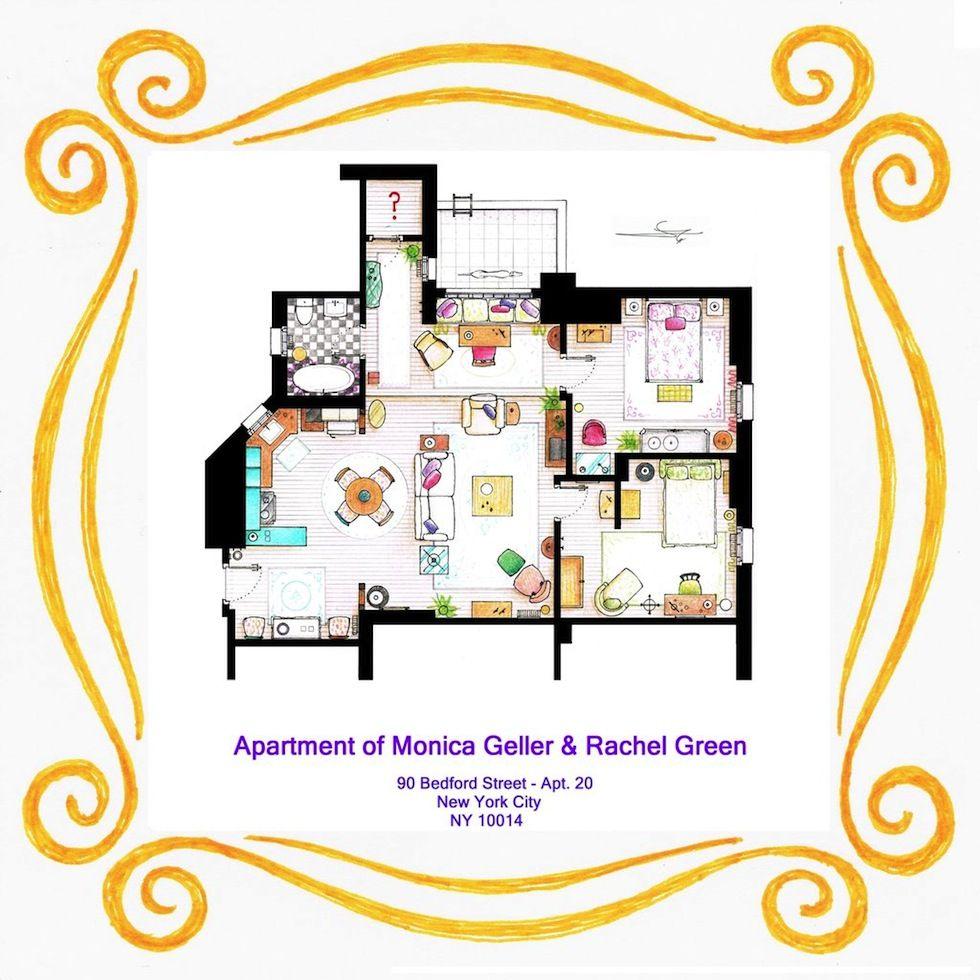 IlPost - Friends/2 - L'appartamento di Monica Geller e Rachel Green (Iñaki Aliste Lizarralde) Apartment of Monica Geller & Rachel Green.