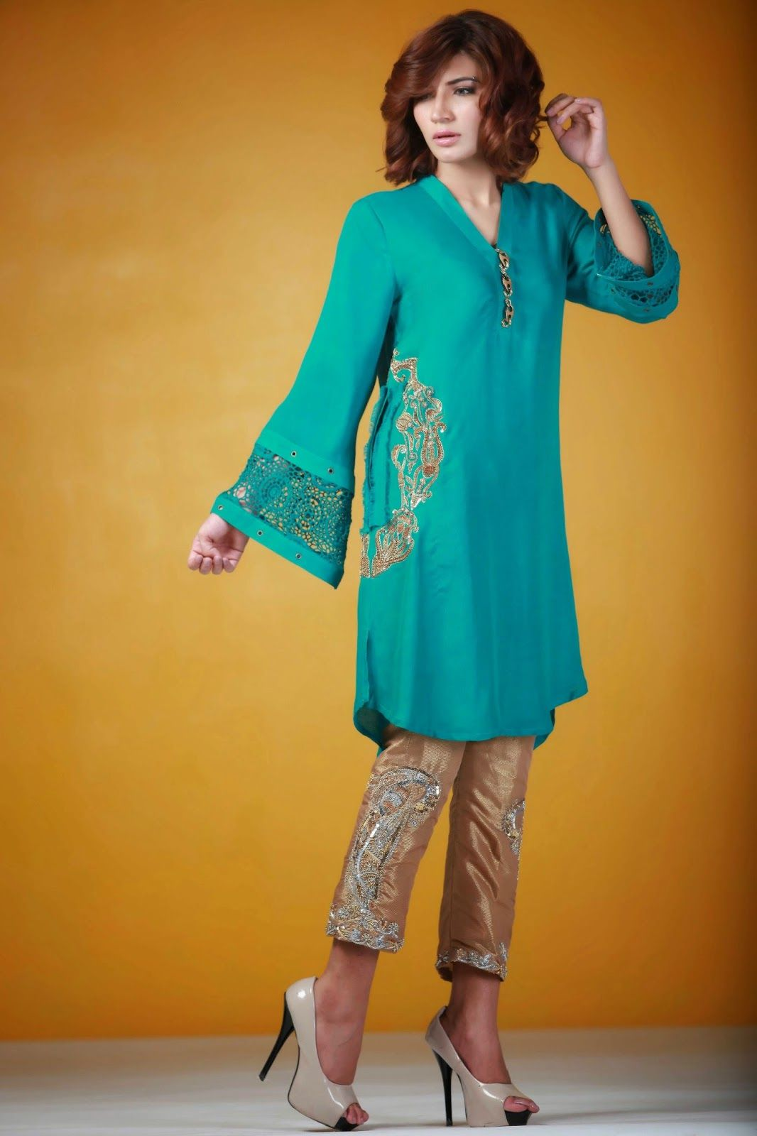 Ayesha somaya embroidered formal trousers like this pinterest