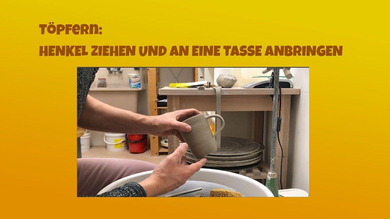 Topfern Henkel Fur Eine Tasse Ziehen Und An Der Tasse Befestigen Schri Topfern Topferanleitungen Topferscheibe