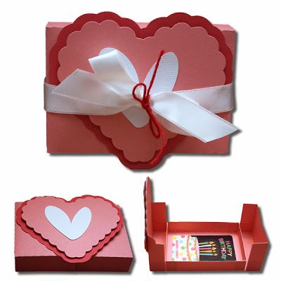 Ruffled Heart Gift Card Box