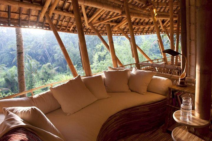Bamboo house in Bali.