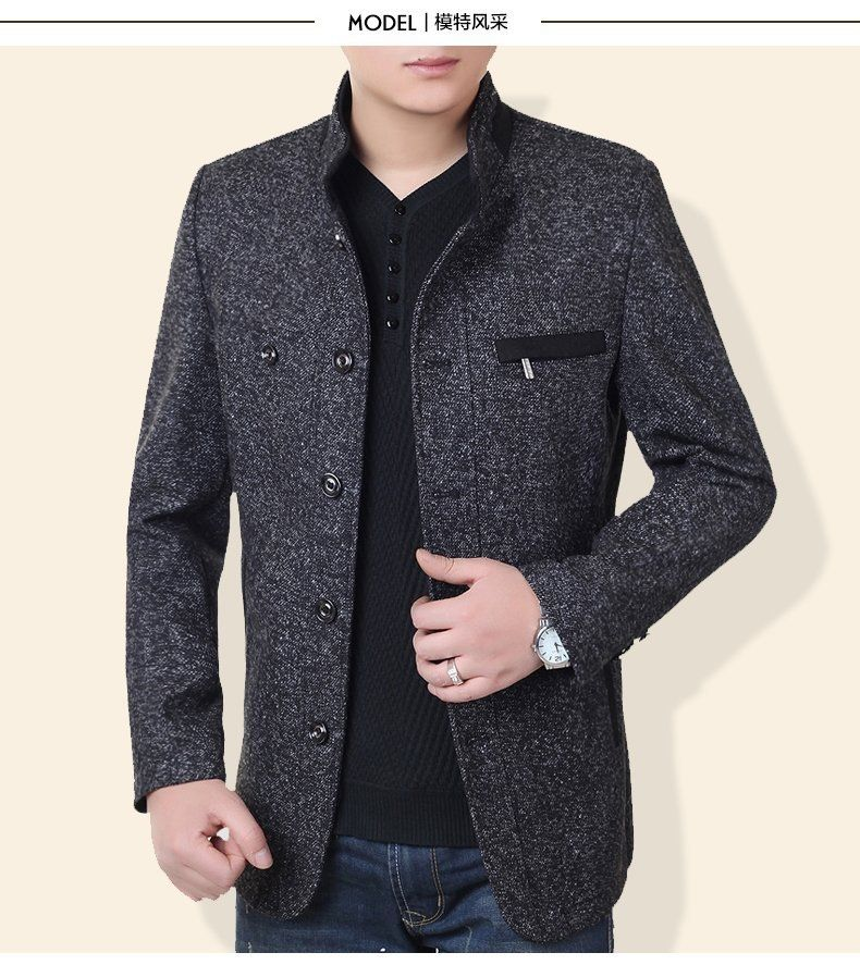 a5355a2b984 men jacket spring jacket men Spring new men s business casual jacket free  shipping