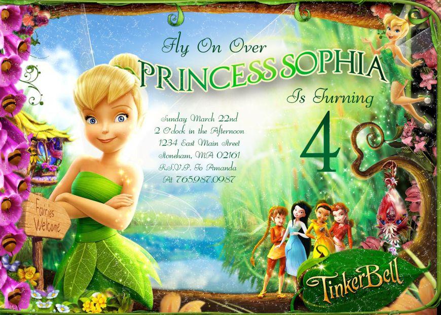 Tinkerbell Birthday Invitations Printable