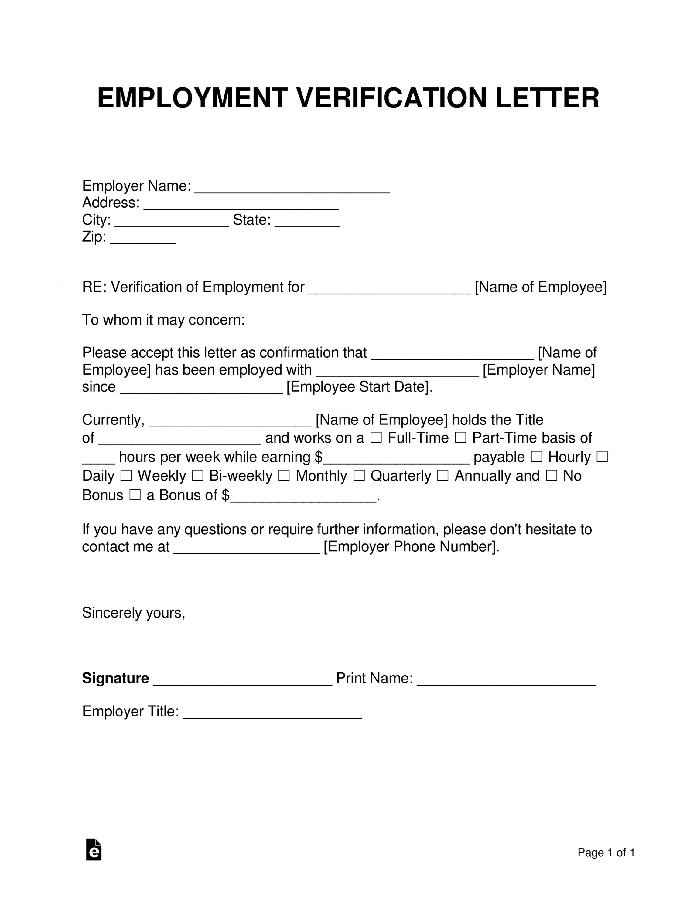 Costum Income Verification Letter For Self Employed Sample In 2021 Letter Of Employment Employment Letter Sample Employment Form Free employee verification form template