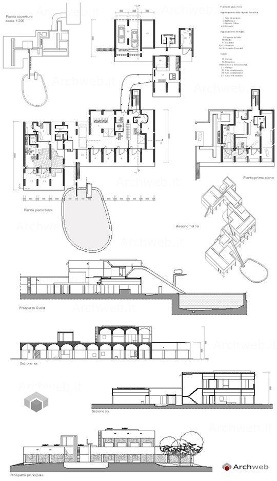 Villa Sarabhai ad Ahmedabad (1955) Le Corbusier Archweb 2D - copy blueprint detail in short crossword clue