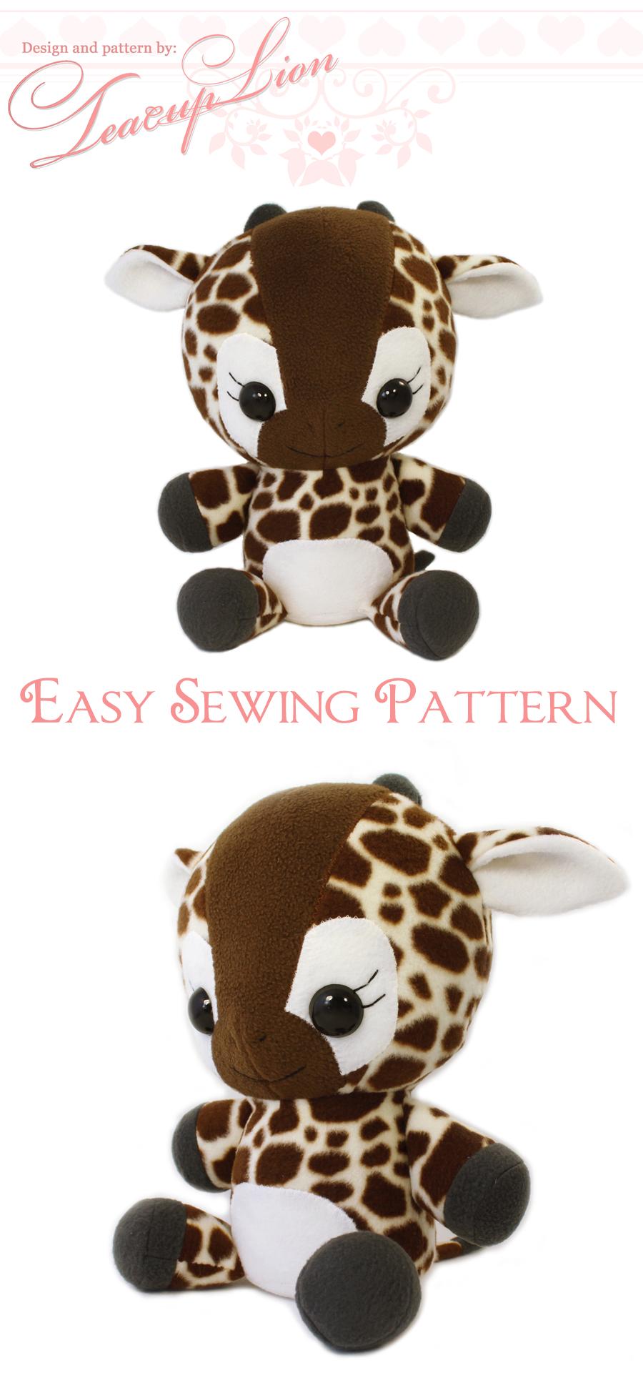 Plush Sewing Pattern Pdf Giraffe Stuffed Animal Kawaii Easy Etsy Giraffe Stuffed Animal Sewing Stuffed Animals Giraffe Sewing Pattern [ 1935 x 900 Pixel ]