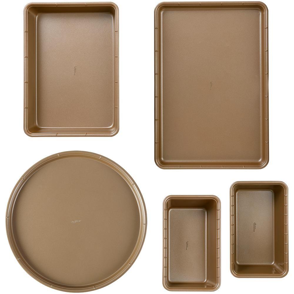 Wilton Ceramic Coated 5 Piece Non Stick Bakeware Set 2104 3928 In