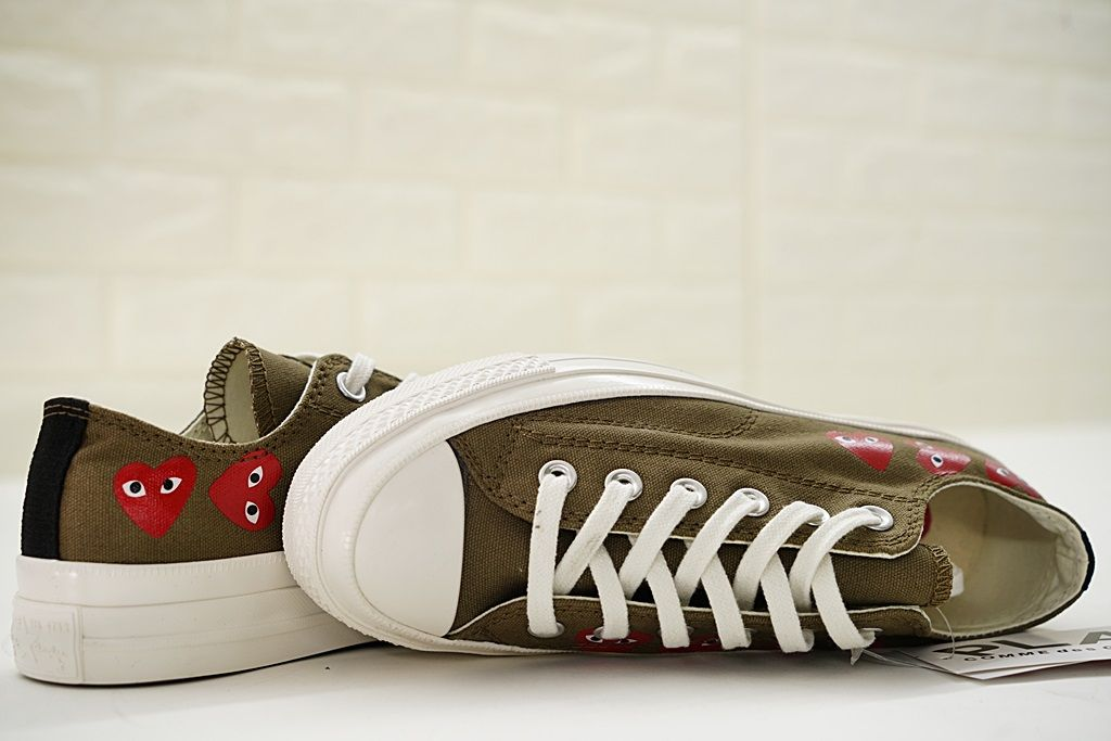 f9770a0f0f77 CONVERSE ALL STAR UNISEX COMME DES GARCONS PLAY 150207C BROWN ...