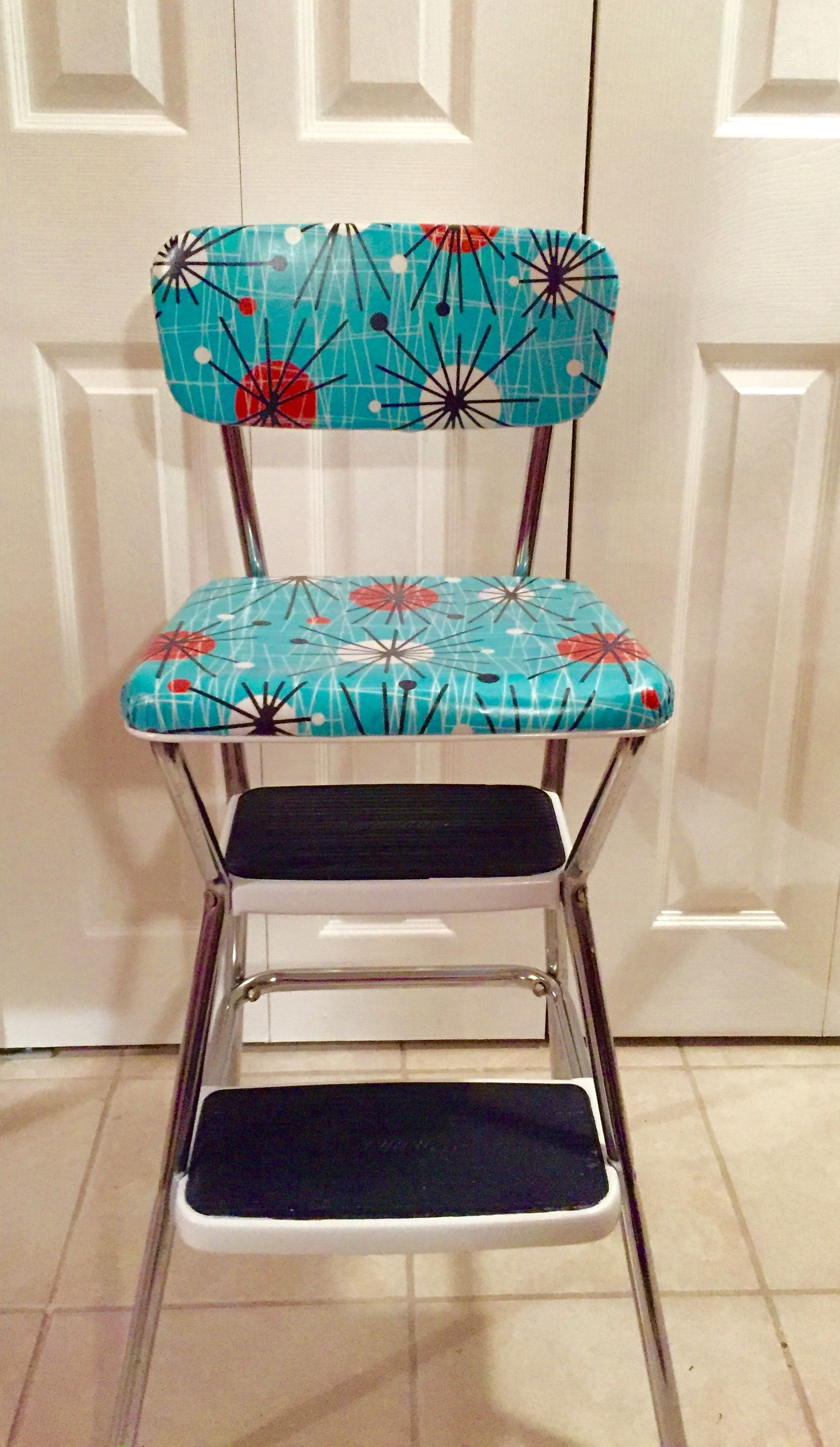 Refinished retro COSCO stepping stool kitchen chair www.furnishly ...