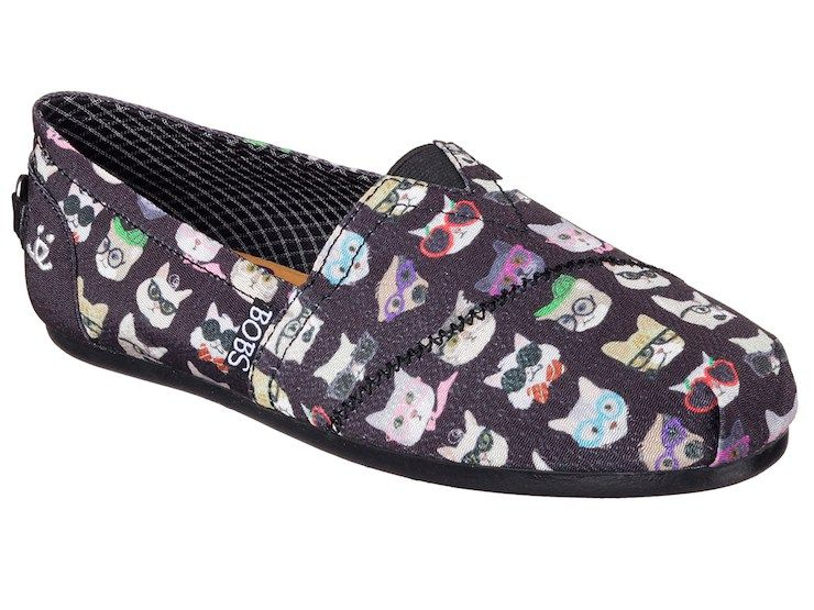 5ee7ed318b2 Buy these Skechers Bobs to help animals in need. These Cat Print Shoes Are  for a Good Cause