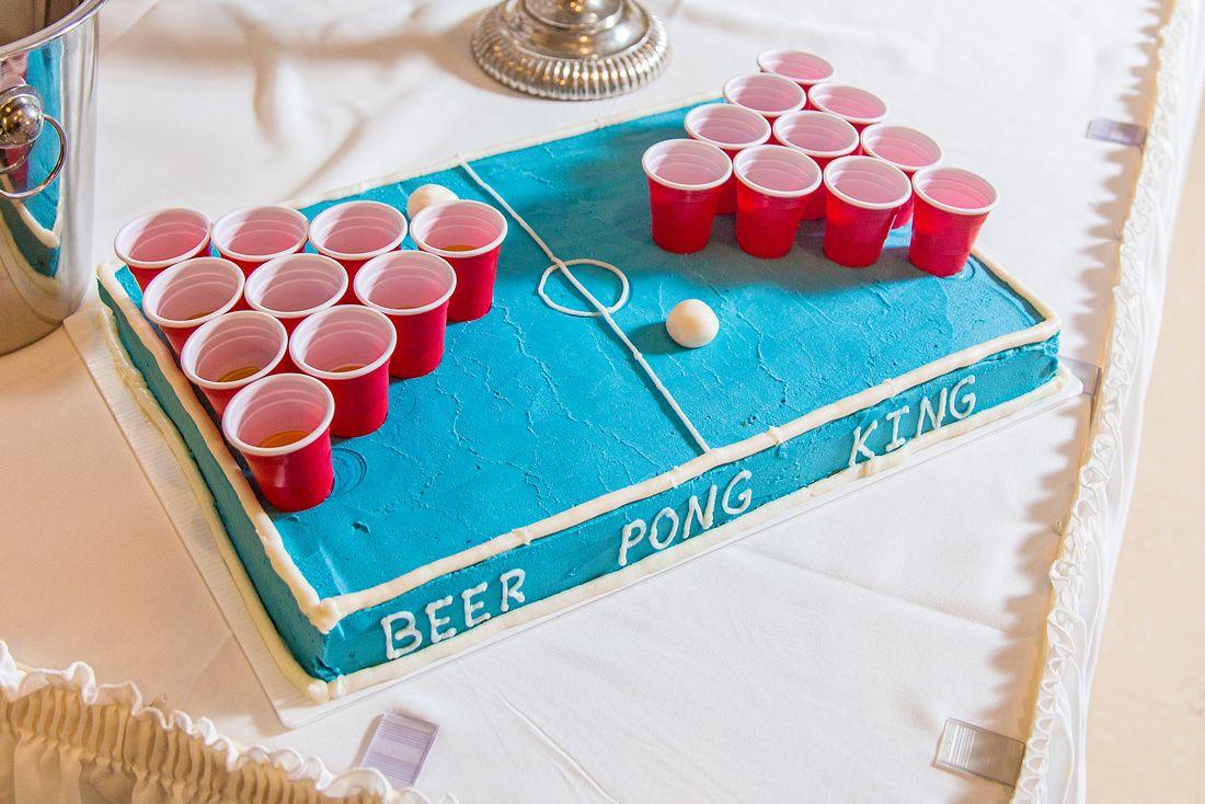 groomscake beerpong weddingcake beerpongcake cake