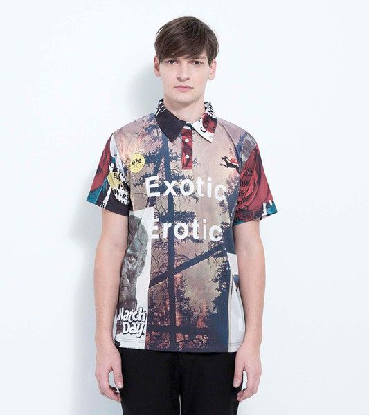 BROTHER PLAY POLO SHIRT WITH DIGITAL PRINT · MULTI