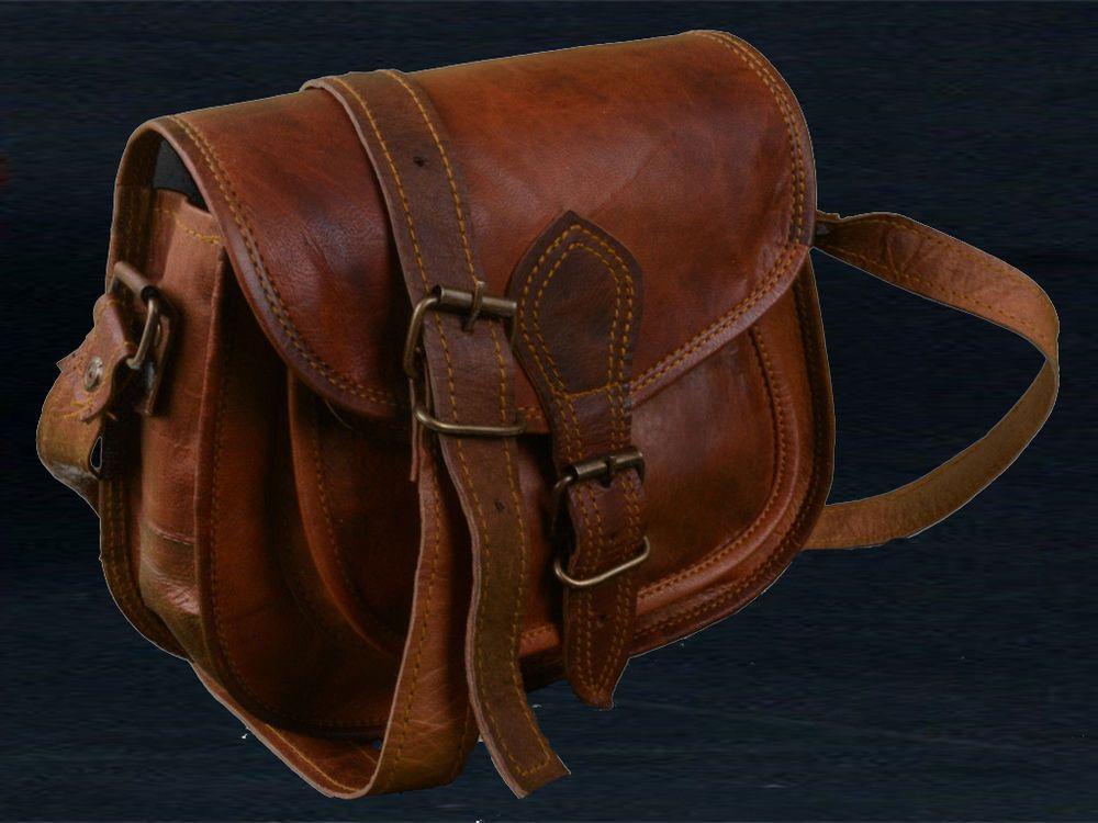Ladies Handmade Brown Leather And