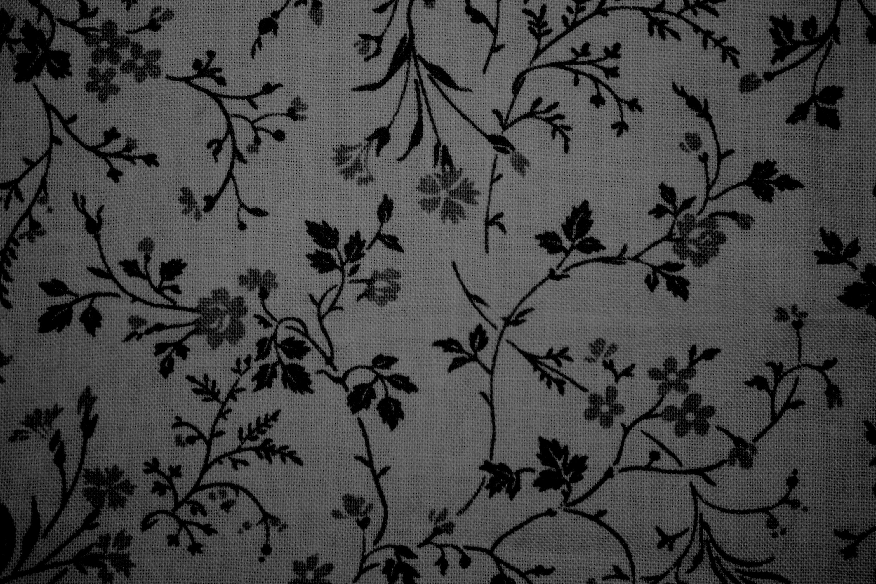 Black On Gray Floral Print Fabric Texture With Images Floral