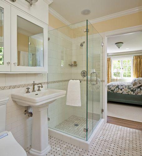 California Tudor Style Residential Remodel Traditional Bathroom San Francisco Custom Small Bathroom Layout Stylish Bathroom Small Bathroom With Shower
