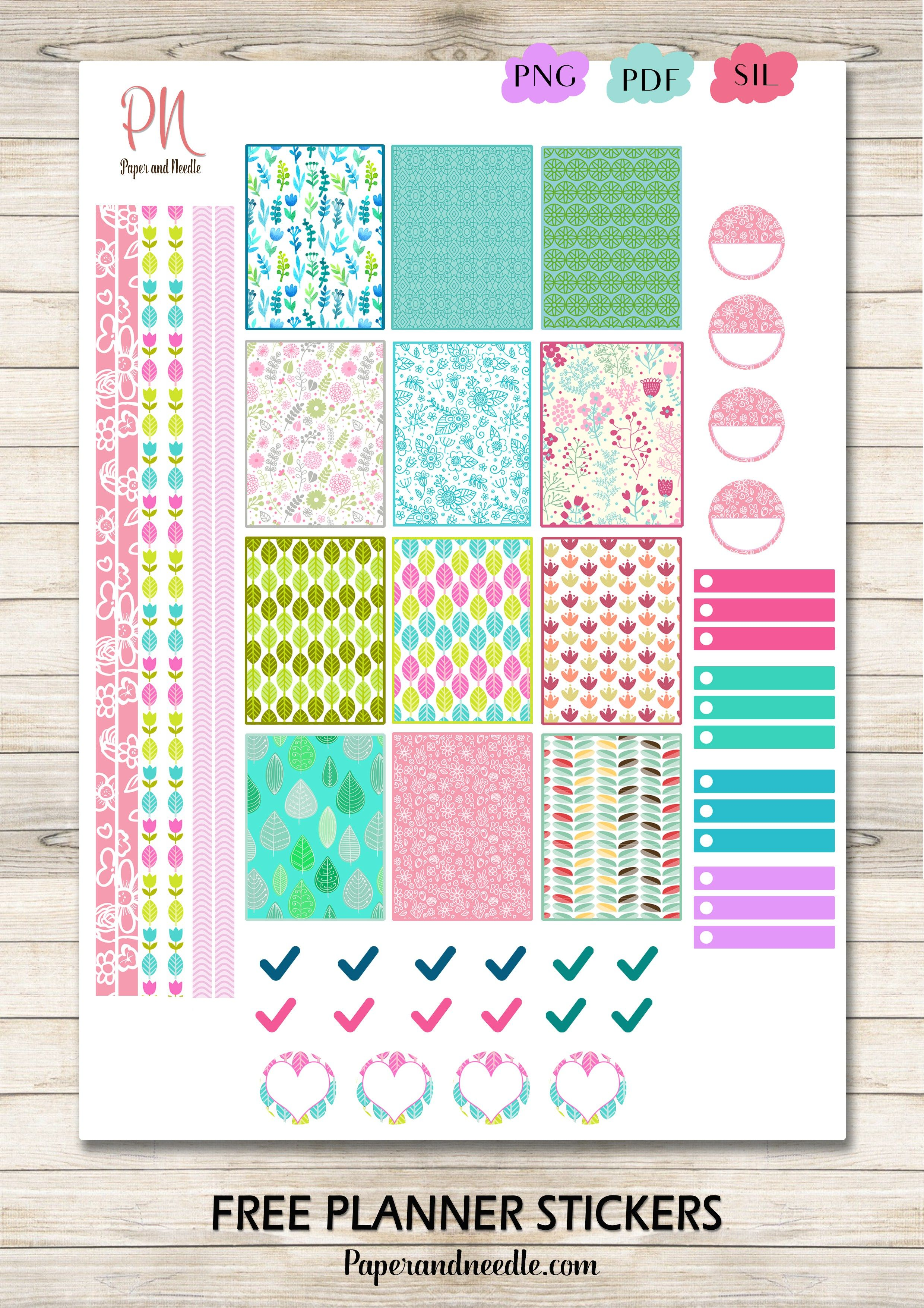Free Printable Planner Stickers from Paper and Needle