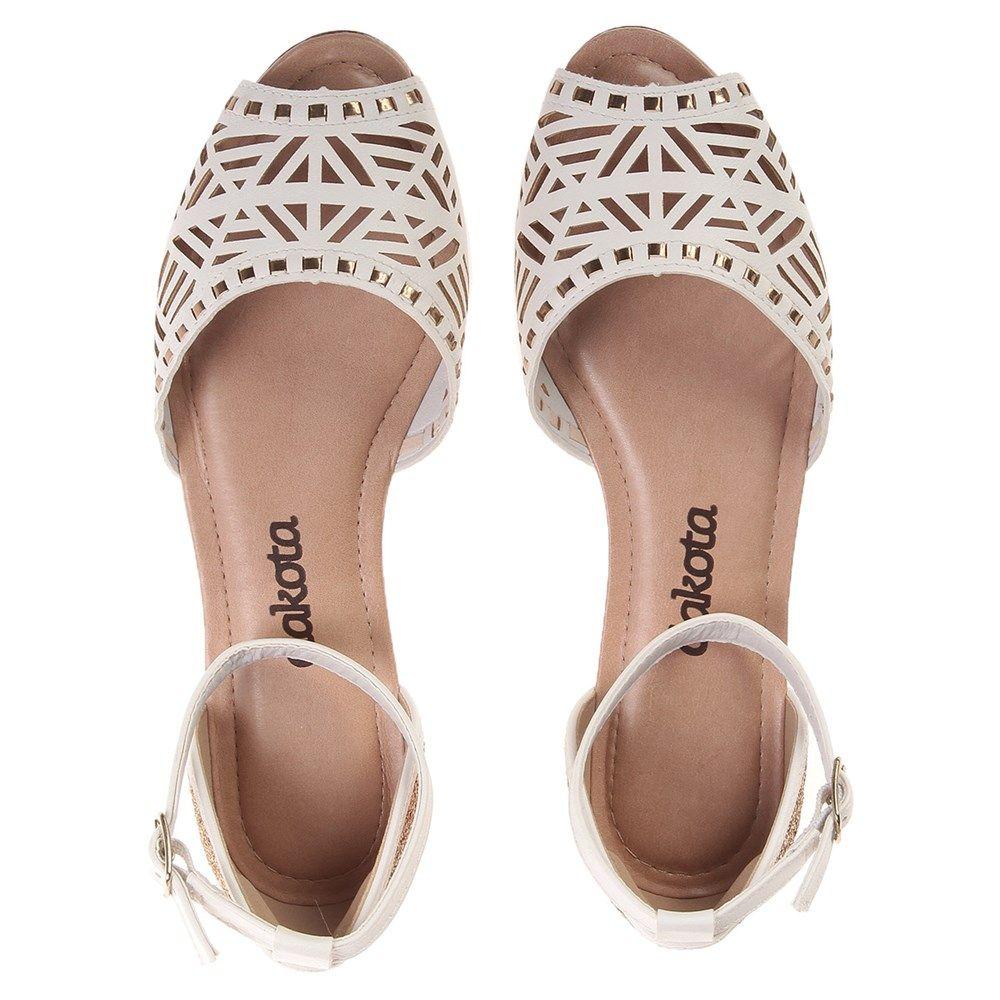 4f3bfddd7 Sandália Rasteira Dakota Branca Branco - Paquetá - LojasPaqueta Sapatos  2017, Sapatos Doidos, Sapatos