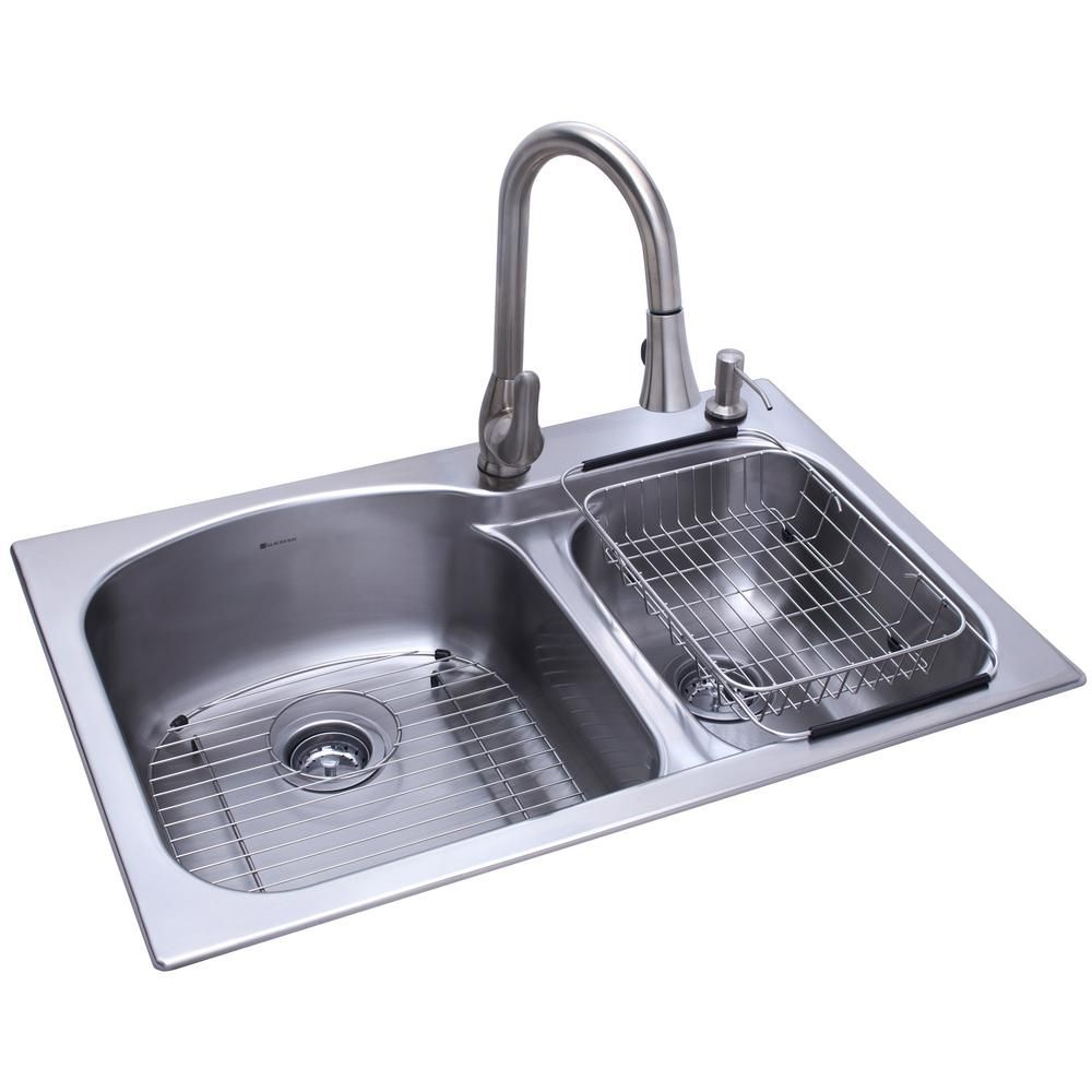 All In One Dual Mount Stainless Steel 33 in