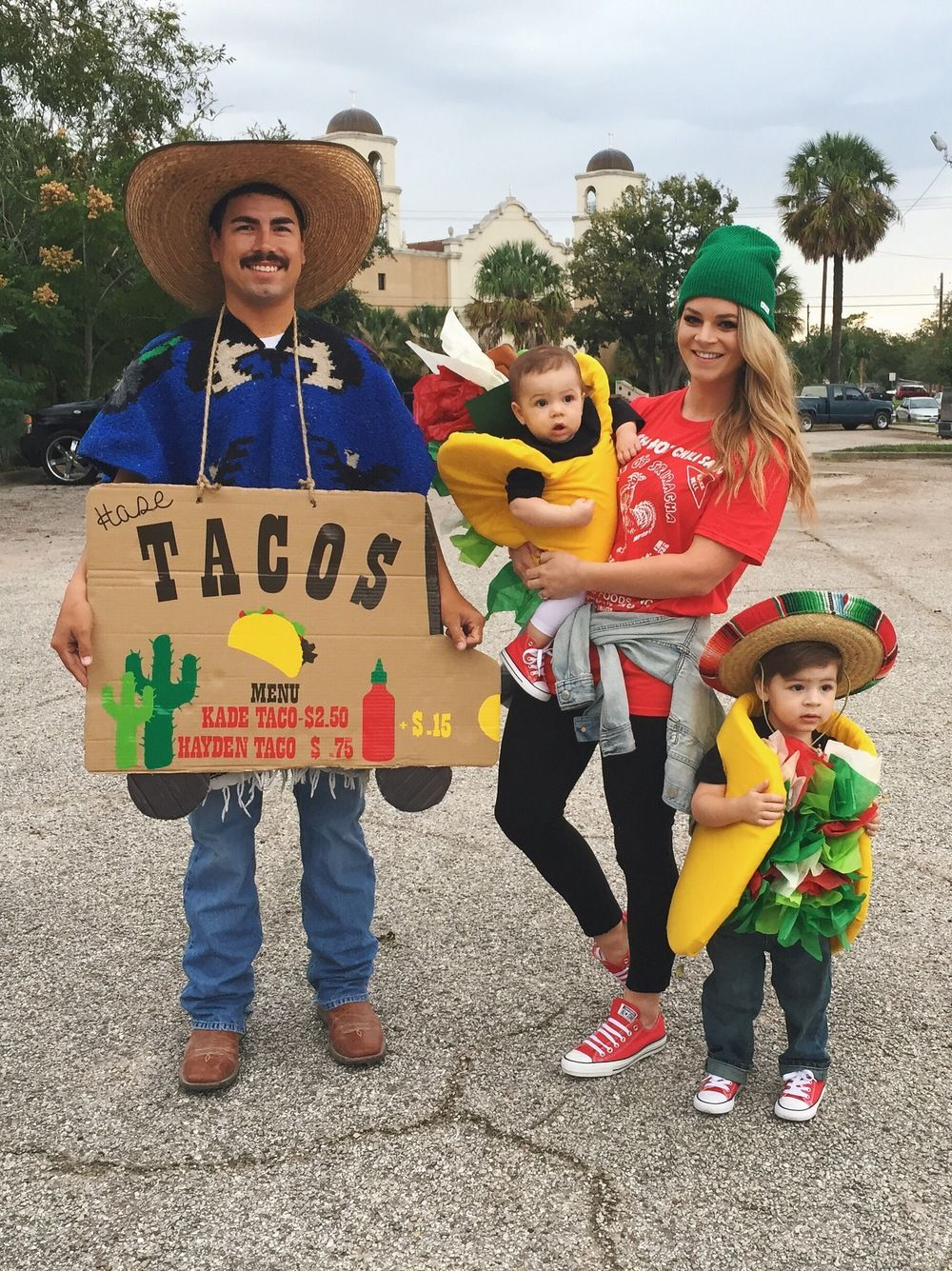 Taco costume taco family halloween costume food for Children s halloween costume ideas