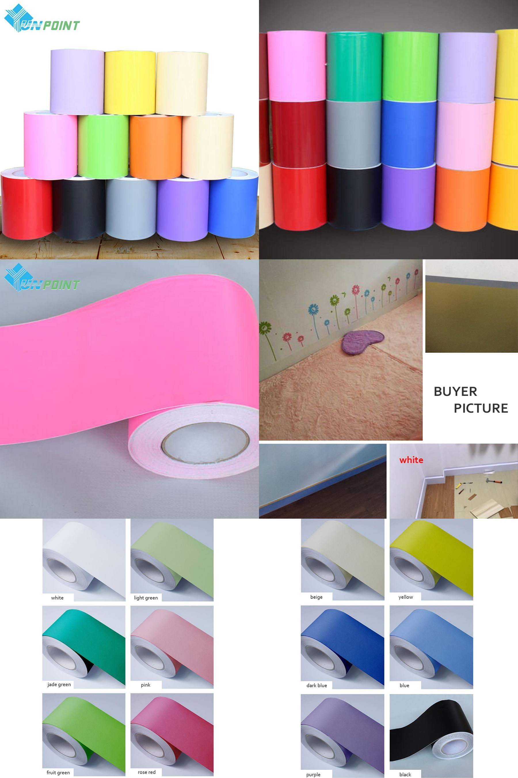 Visit To Buy 3m For Kidroom Vinyl Wall Stickers Solid Color Self