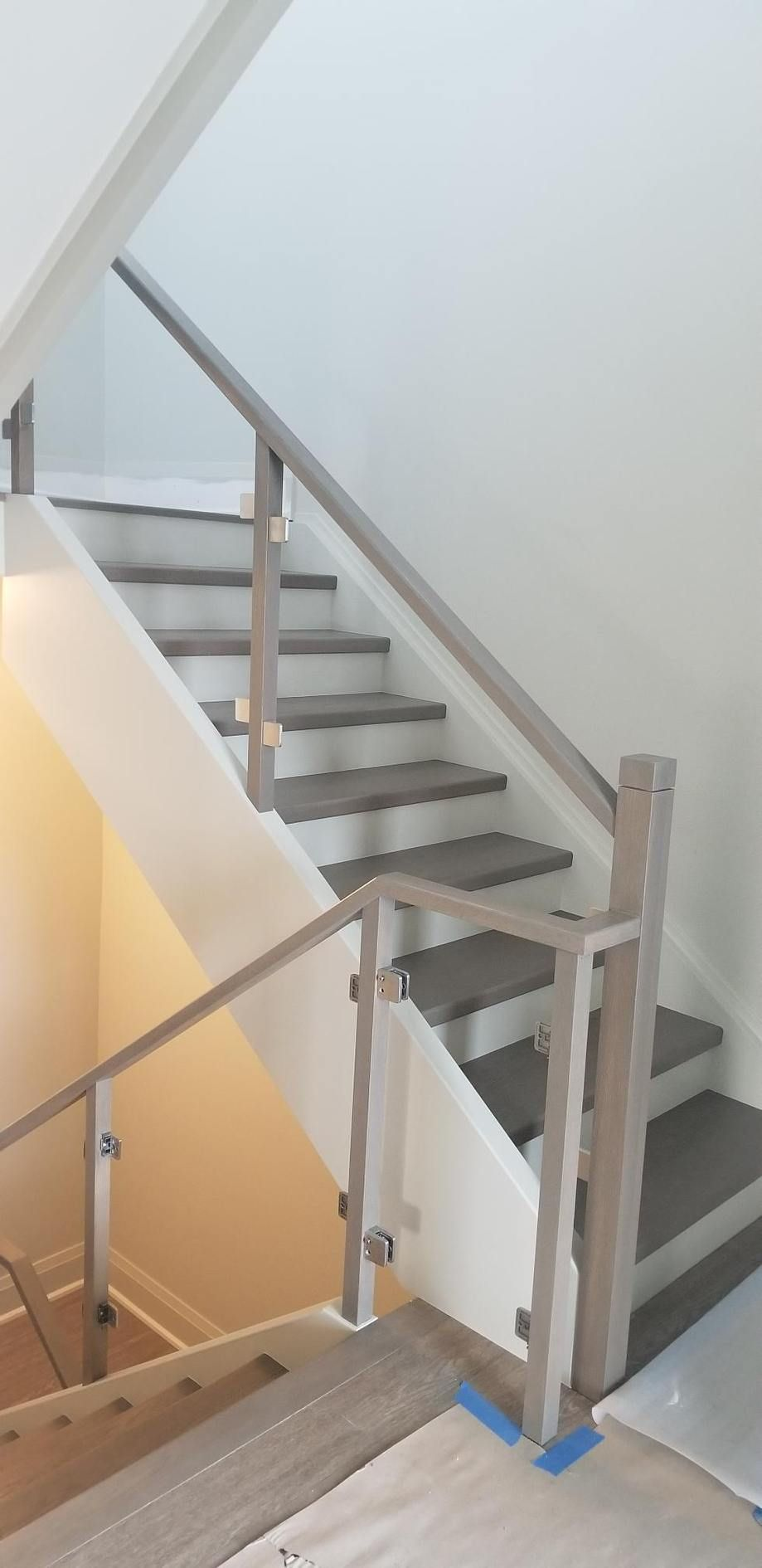 Best Stained And Finished Stairs Stair Treads Custom Color 400 x 300