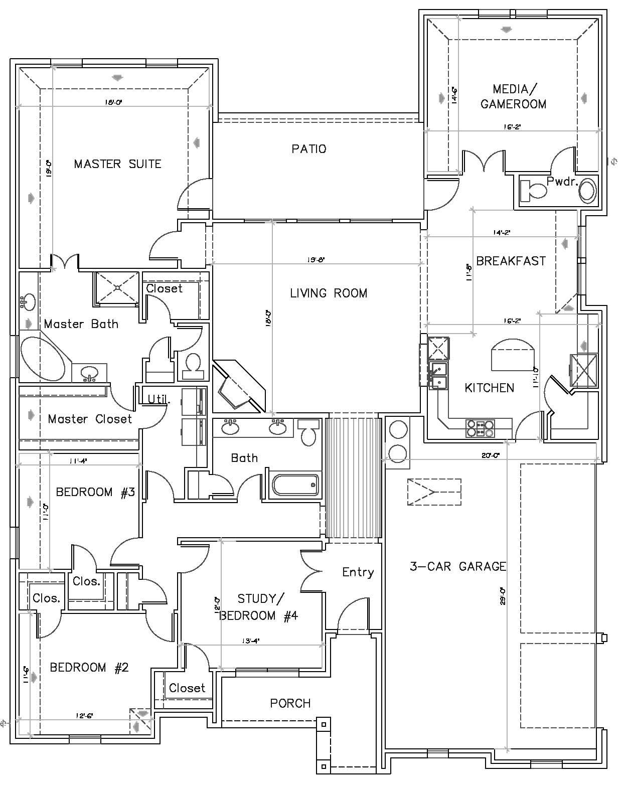 Not liking where the Garage entrance is but loving that they have – Texas Ranch House Floor Plans