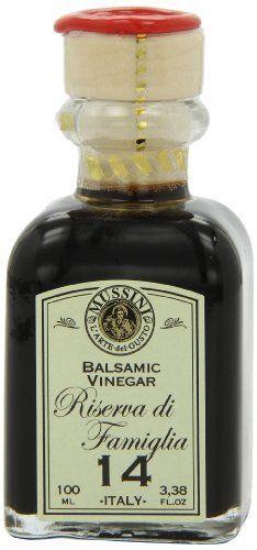 Mussini 14 Year Balsamic Vinegar, Riserva di Famiglia, 3.38-Ounce Glass Bottle by Mussini