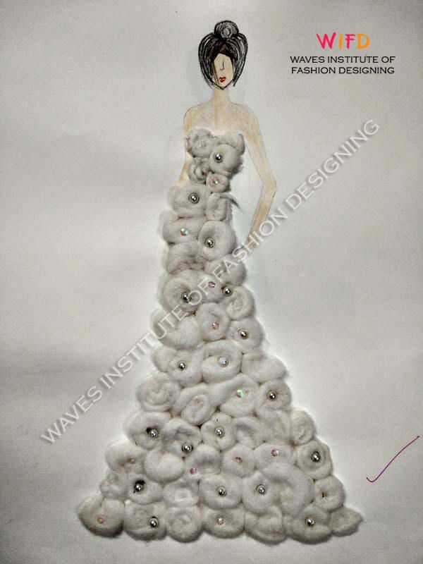 4ac837f87 Concept of dress with cotton balls | Concepts to Illustration ...