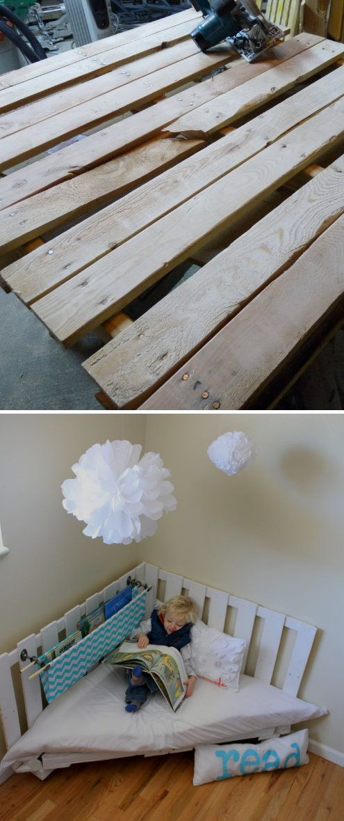 Pallet Reading Corner Chair | Crafts, tips and DIY ...