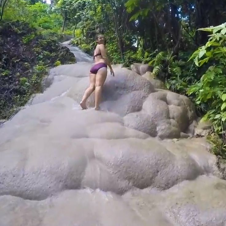You can actually climb this waterfall in Thailand.   -  #thailandDesign #thailandKrabi #thailandWedding
