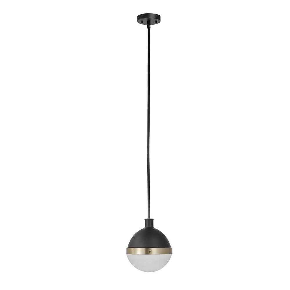 Globe Electric Bari 1 Light Matte Black Pendant 65773 The Home Depot In 2020 Glass Globe Pendant Light Glass Globe Pendant Globe Pendant Light