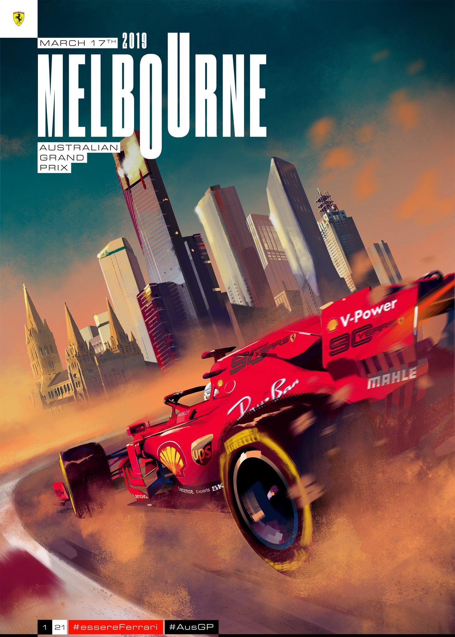 1/21 2019 | Ferrari F1/GP posters | Ferrari f1, Australian