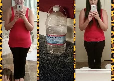 She drank ONE GALLON of water a day and look what happened!!
