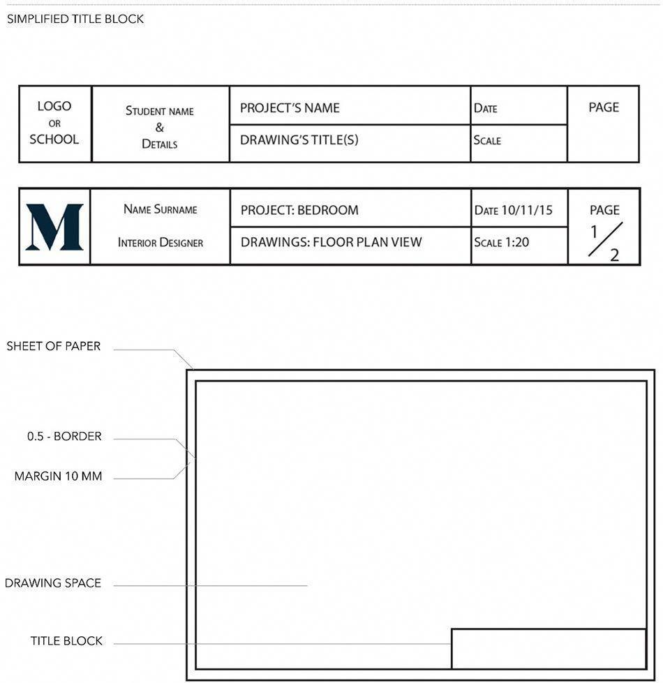 Layout And Title Block: JUL2016   Diploma Of Interior Design U0026 Decorationu2026  #interiordesigncourses