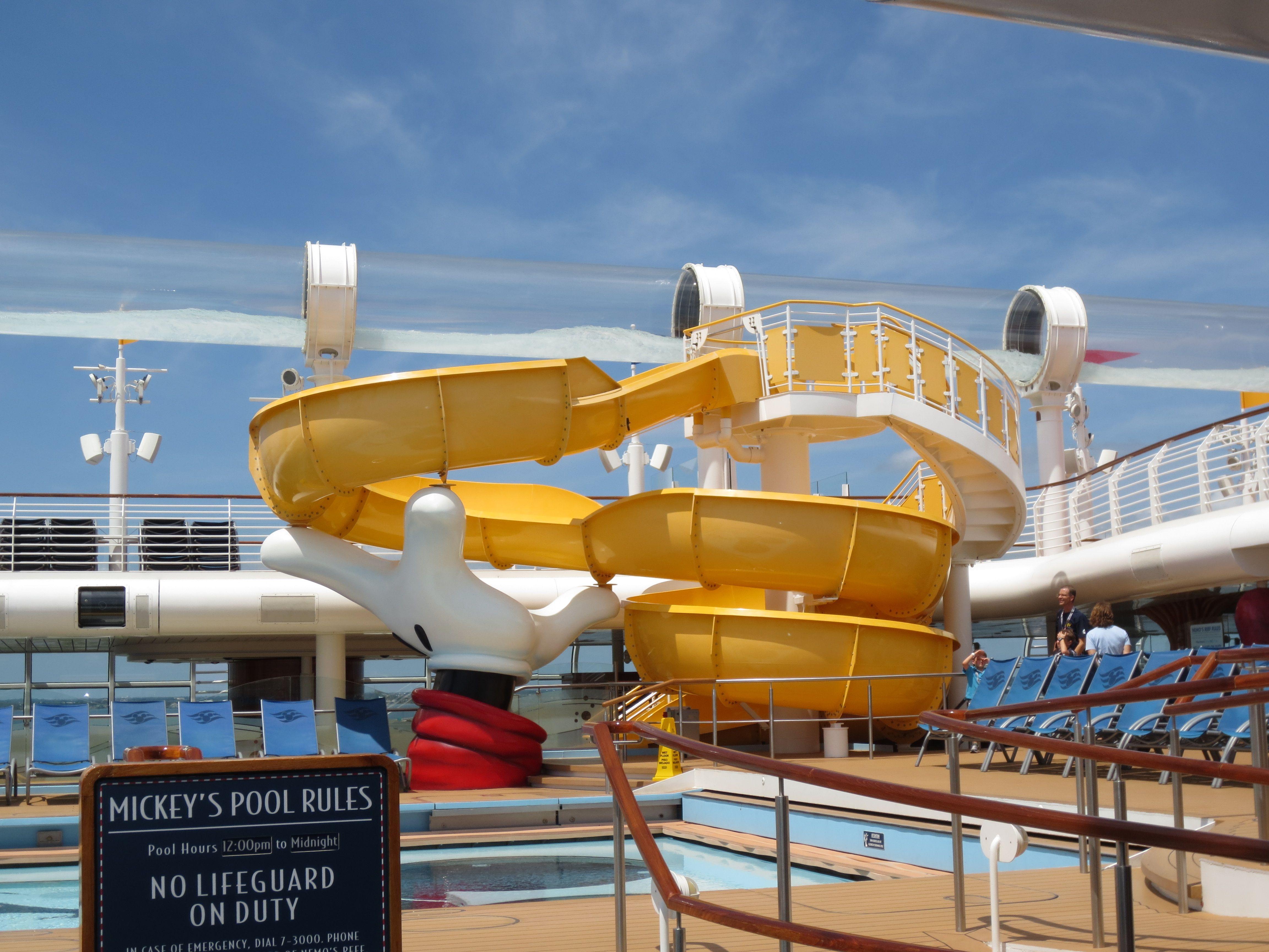 Disney Dream Mickey's Pool Slide.