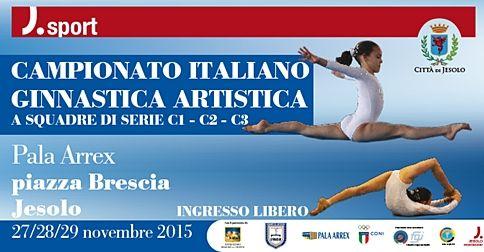 Siete pronti per un altro evento sportivo molto interessante a Jesolo? Il 28 e 29 Novembre, al Pala Arrex si terrà il Campionato Italiano Ginnastica Artistica. Non mancate!
