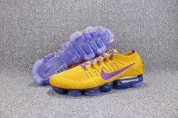 354fcbcd050 Comfortable Nike Air VaporMax Flyknit 2018 Lemon Yellow Purple Citron Jaune  Violet AA3858 104 Sneakers Men s