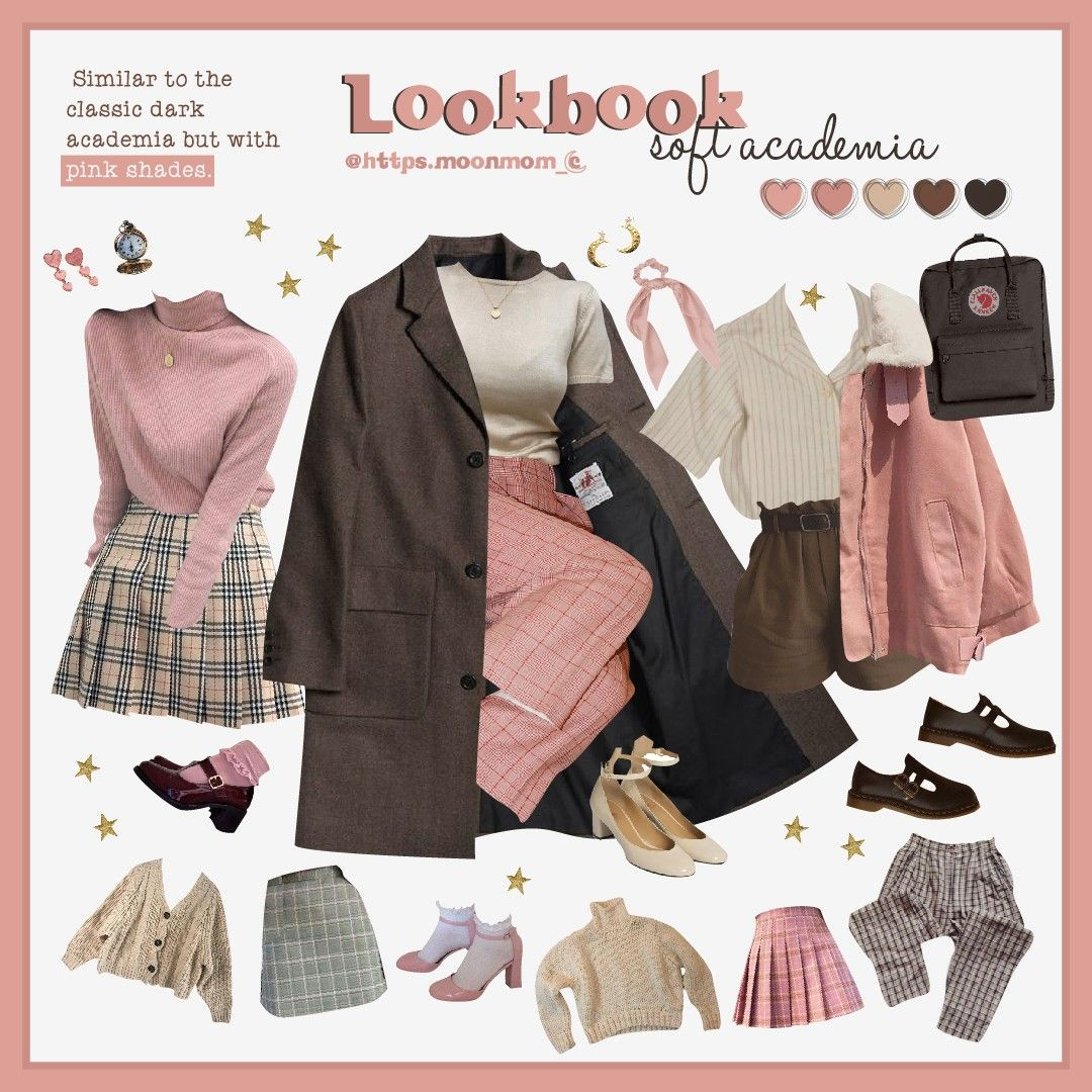 Soft Academia Fashion Moodboard In 2020 Aesthetic Clothes Fashion Retro Outfits