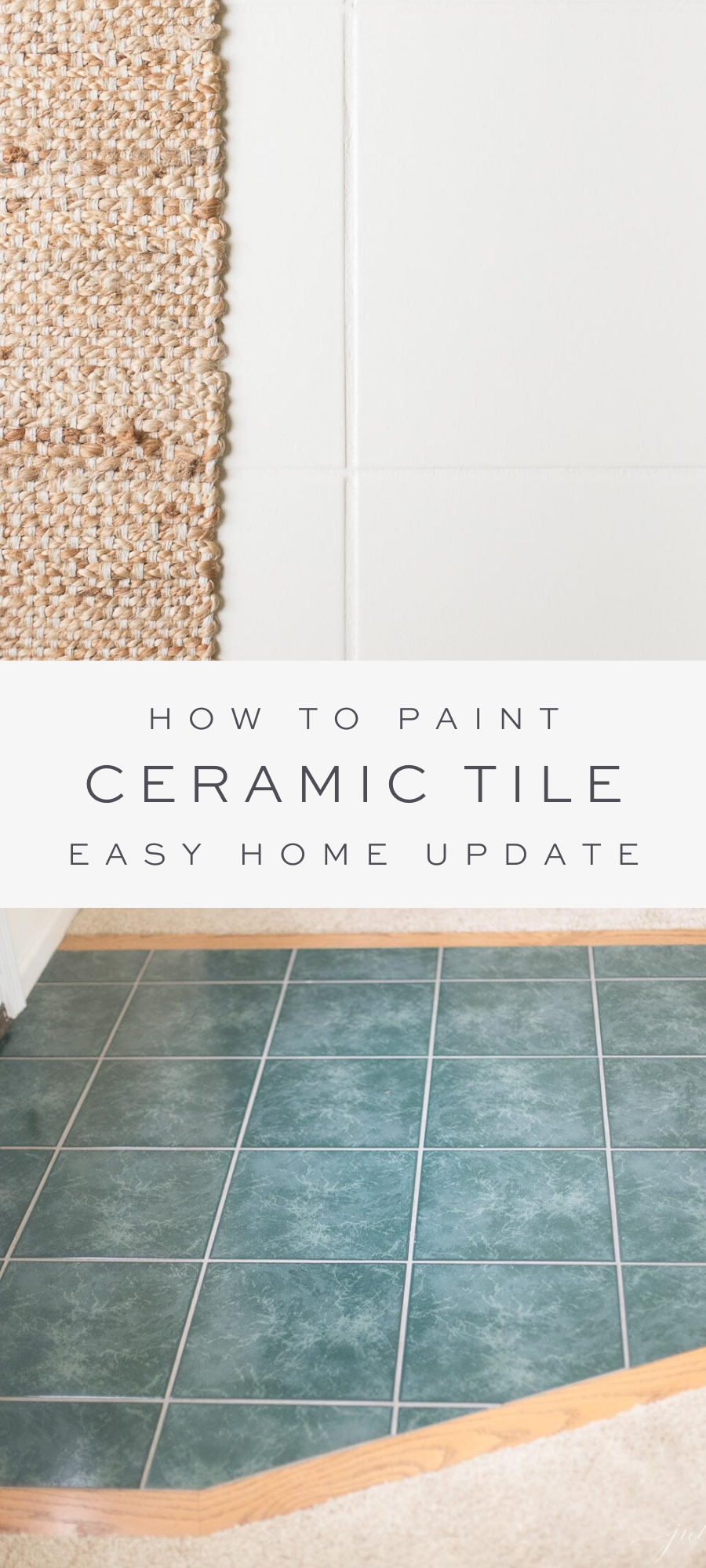 How To Paint Ceramic Tile With Tile Paint For A Quick Beautiful Fix In 2020 Painting Ceramic Tile Floor Painting Ceramic Tiles Painting Tile