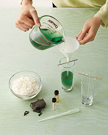 Martha Stewart's guide to making scented soy votive candles. I loosely follow this. I used to get most of my supplies from yaley.com instead of multiple sites, but I recently found a bunch of things I needed at Hobby Lobby. This guide will tell you how to get it done.