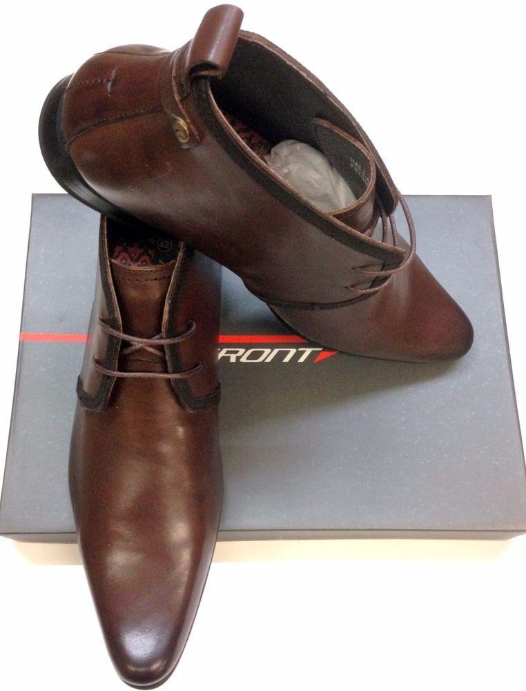 06eda0ed46e Details about ** SALE** Men's Designer Halland Leather Ankle Lace Up ...